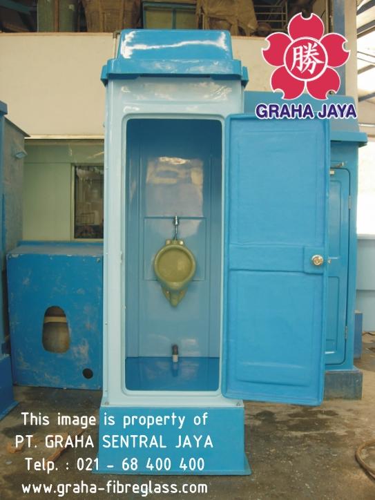 Toilet Portabel Tipe B - tampak dalam | menggunakan urinal