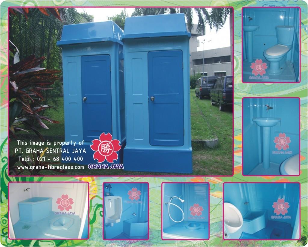 Toilet Portable Fiberglass Tipe A - Graha Jaya