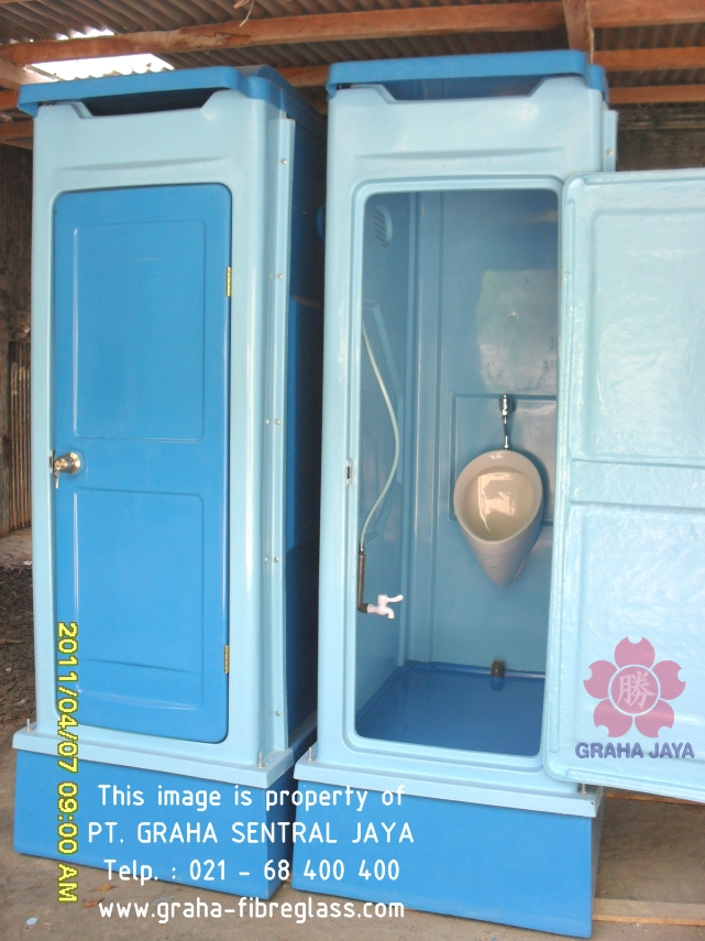 Toilet Portable Tipe C - menggunakan urinoir / urinal