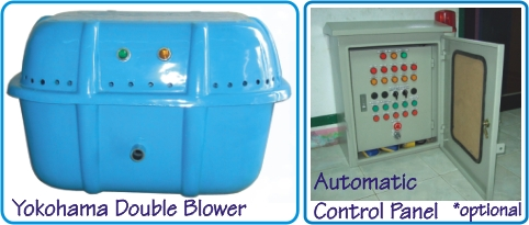 Yokohama double blower dan Control panel