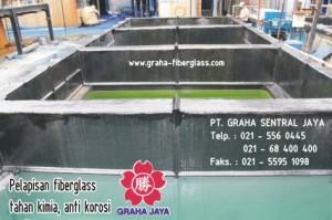 pelapisan fibreglass tahan kimia / frp coating