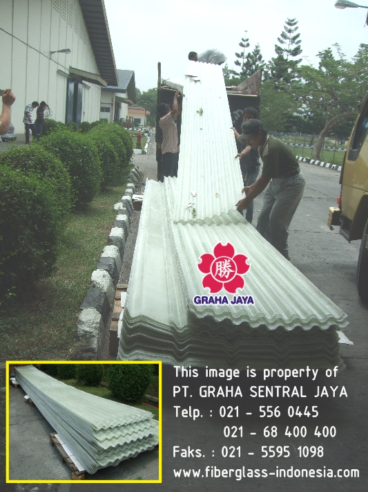 atap fibreglass / rooflight / skylight