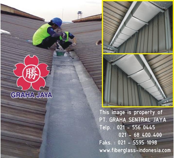 Talang air fiberglass proyek industri